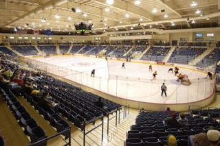 ice skating and hockey arena