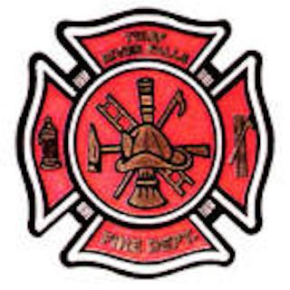 red fire department logo